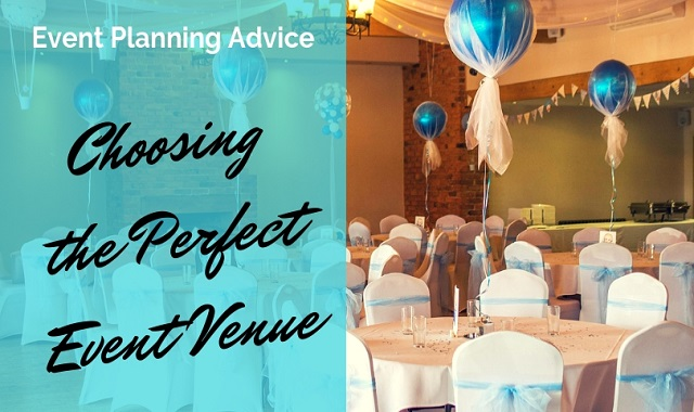 An Image saying choosing the perfect business event venue.