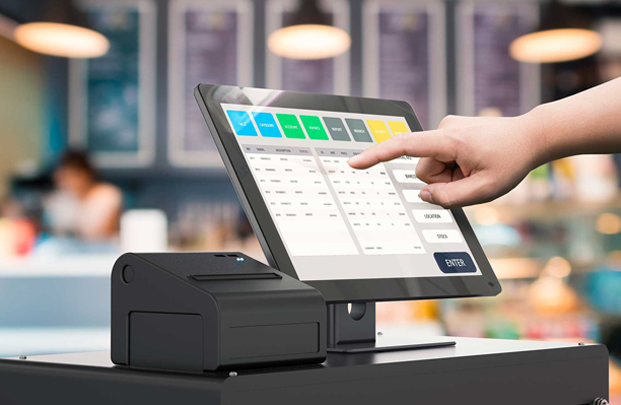 Human Hand Pointing Out The Highly Scalable Device with Variety of POS Features