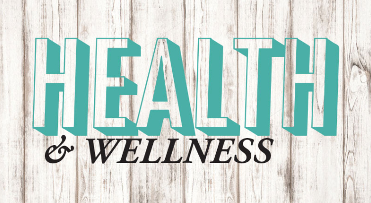 Text Written Health And Wellness Written In Blue Background.